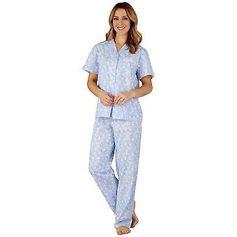 Slenderella PJ3214 Frauen Baumwolle gewebt Pyjama Pyjama-Set