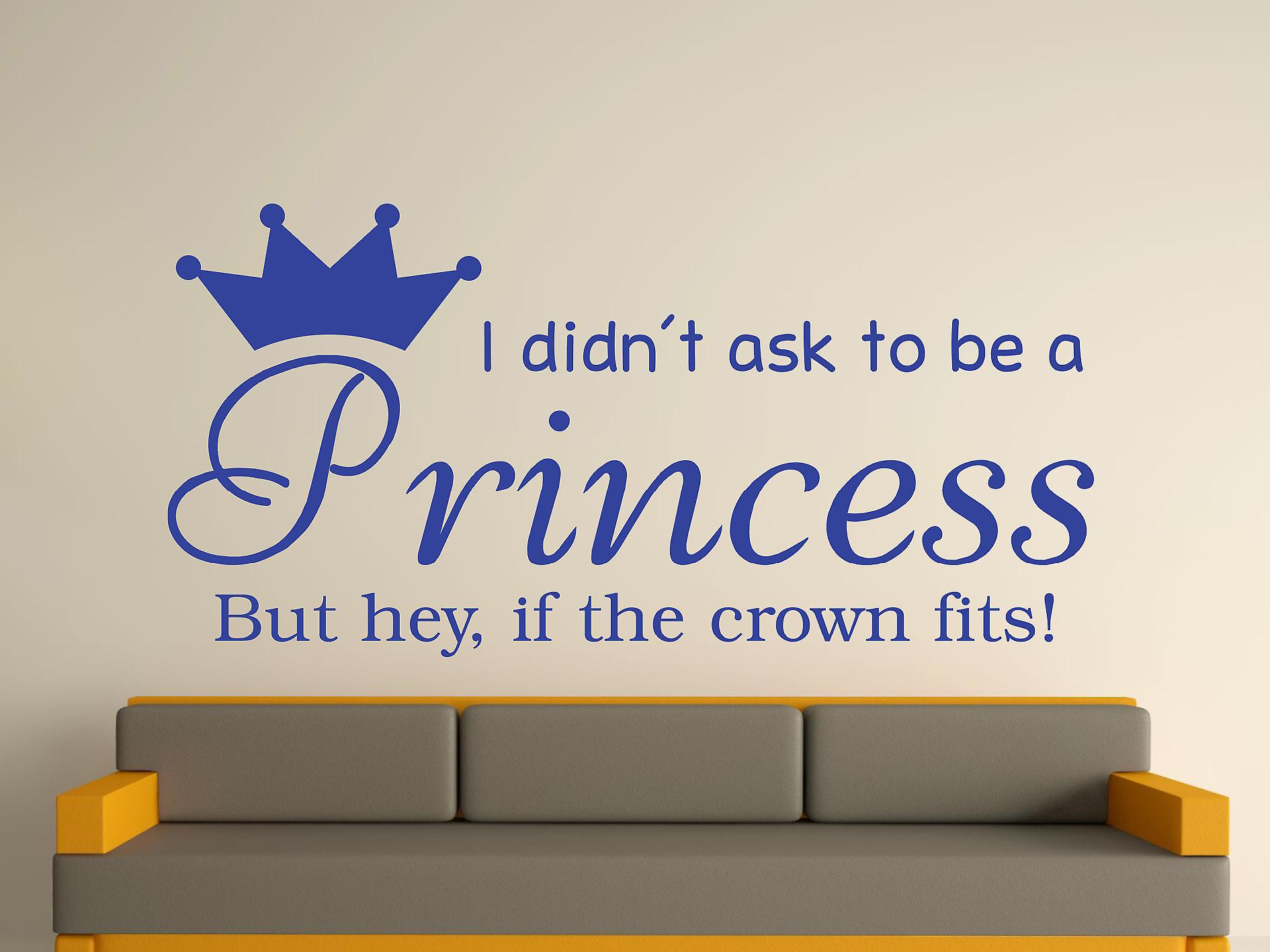 Being A Princess v2 Wall Art Sticker - Brilliant Blue