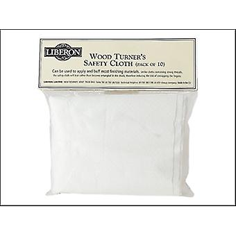 WOODTURNERS SAFETY CLOTH (PACK OF 10)