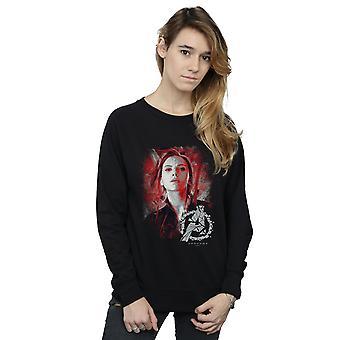 Marvel kvinnors Avengers Endgame Black Widow borstad Sweatshirt
