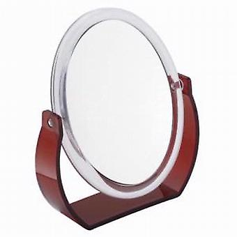 Famego 7x Magnification Red Acrylic Vanity Mirror