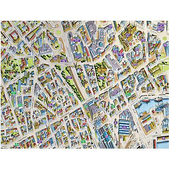 Cityscapes Street Map Of Aberdeen 400 Piece Jigsaw Puzzle 470mm x 320mm (hpy)