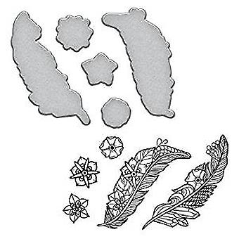 Continuación de la estampilla y Die Set plumas (SDS-100)