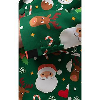 d/تحدث الرجل الأخضر سانتا والأصدقاء 2 قطعه بدله عيد الميلاد