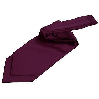 Pianura di prugna raso nozze Cravat laccetti