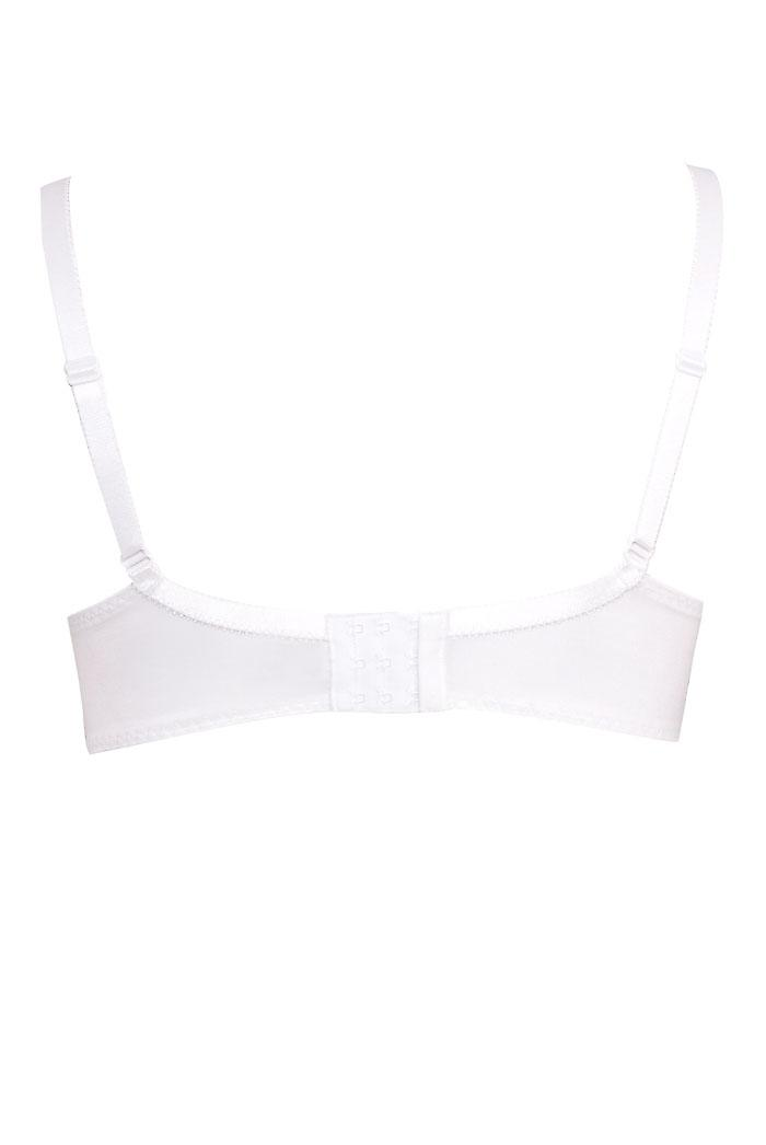 White Non-Wired Cotton Bra With Lace Trim BEST SELLER