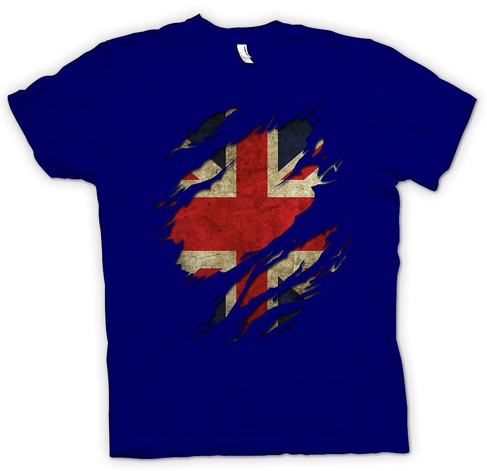 Mens T-shirt - Union Jack Flag Grunge Riss Effekt