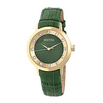 Bertha Cecelia läder-Band Watch - grön