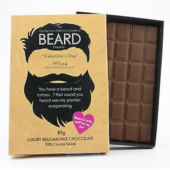 Funny Valentine's Day Gift for Bearded Men Beard Lover Present Chocolate Greeting Card BTQ130