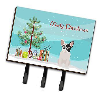 Black and White French Bulldog Christmas Tree Leash or Key Holder
