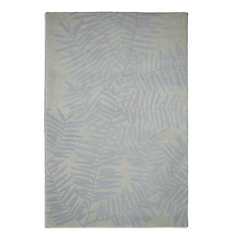 Palm Palm 03 Grey and light blue leaf Rectangle Rugs Plain/Nearly Plain Rugs