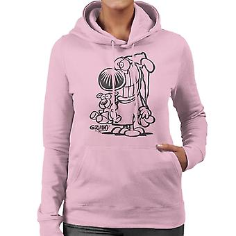 Grimmy Ready For Bed Women's Hooded Sweatshirt