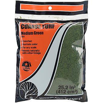 Turf 18 To 25.2 Cubic Inches-Medium Green - Coarse TTURF-T64