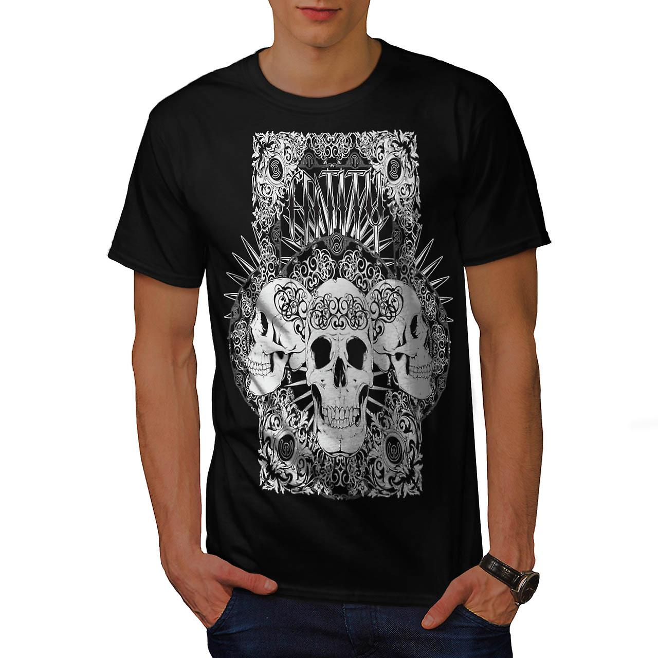 Entity Monster Skull Grave Yard Men Black T-shirt | Wellcoda