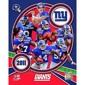 New York Giants 2011 Team sammansatta sport foto