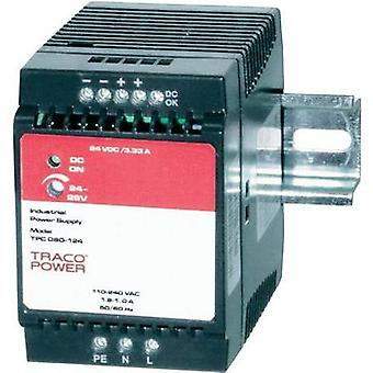 Rail mounted PSU (DIN) TracoPower TPC 080-124 24 Vdc 3.3 A 80 W 1 x