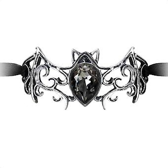 Alchemy Gothic Viennese Nights Scroll Bat Ribbon Bracelet