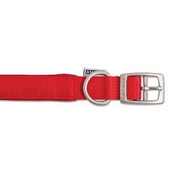 Heritage Nylon Padded Collar Red 25mm X39-48cm Sz 5