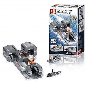 Sluban Building Blocks Aircraft Carrier Series Jet Boat 3-in-1