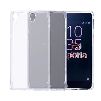32nd Tough Gel case + stylus for Sony Xperia E5 - Clear
