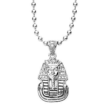 Iced out bling fashion chain - MICRO PHARAOH KING silver