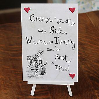 DISTRESSED WHITE 'Choose a Seat' Sign ALICE Design r