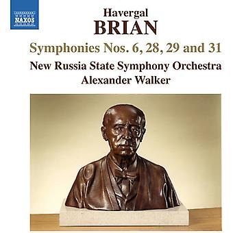 Brian / New Russia State Symphony Orchestra / Walk - Symphonies Nos. 6 & 28 & 29 & 31 [CD] USA import