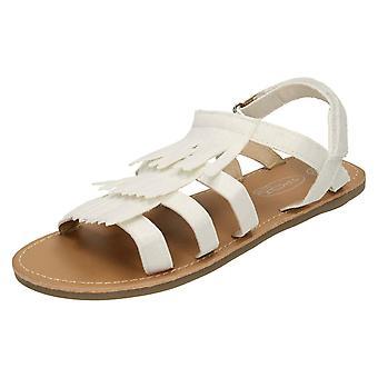 Spot de filles sur sandale avec pompons H0188