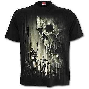 Spiral - WAXED SKULL - Men's Short Sleeve T-Shirt, Black