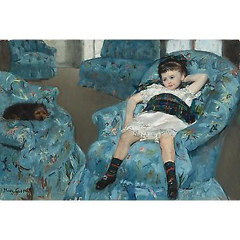 Mary Cassatt - Little Girl in a Blue Armchair Poster Print Giclee
