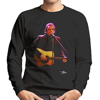 Johnny Cash giocando chitarra felpa