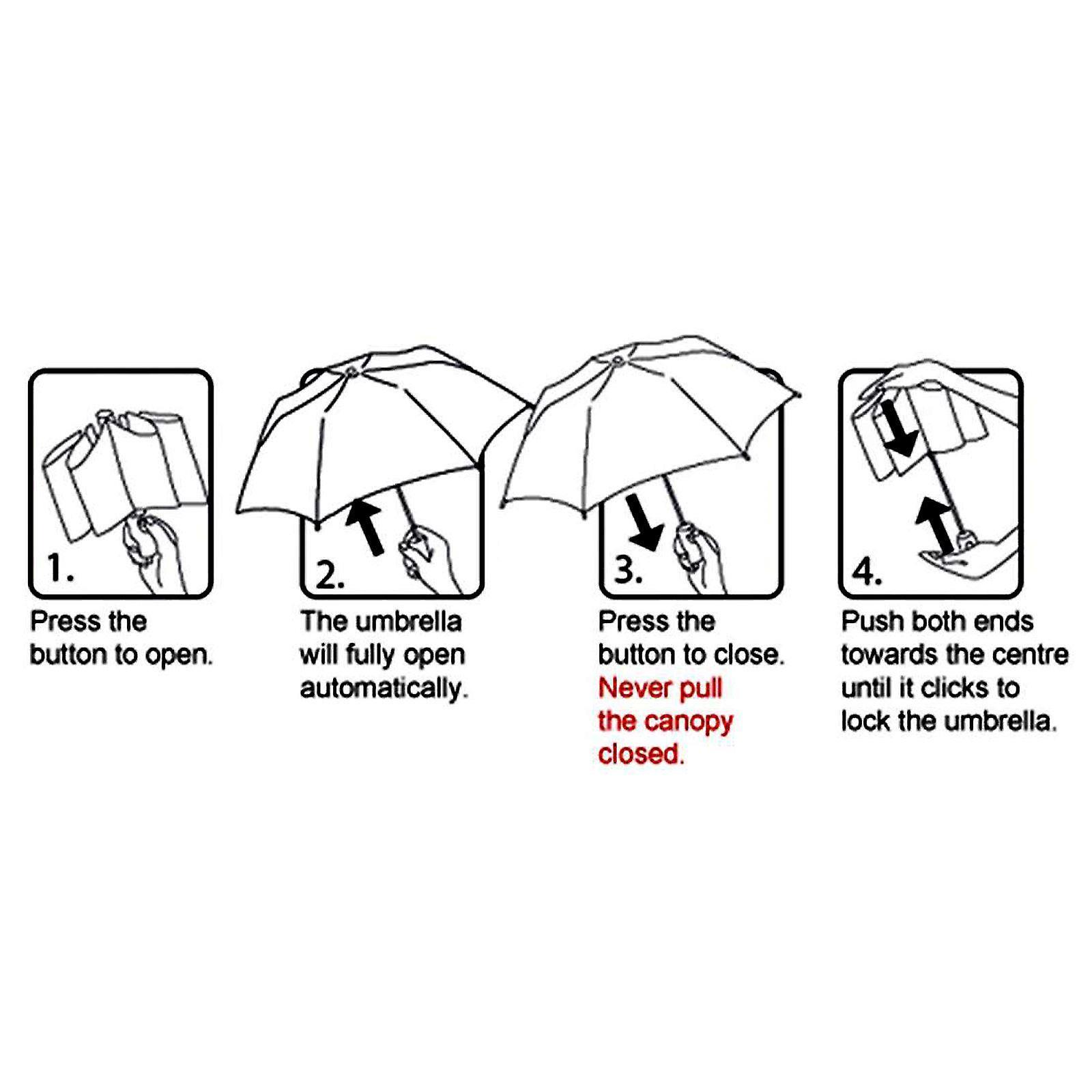 AMOS Auto aprire & chiudere chiusura a ombrello - bianco