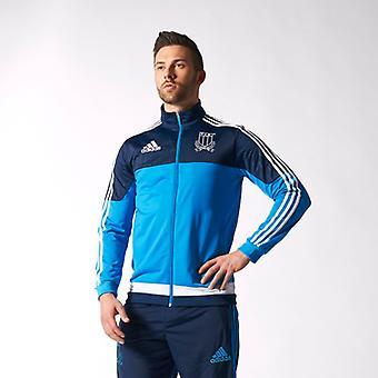 ADIDAS Italia jaqueta de poliéster rugby [azul]