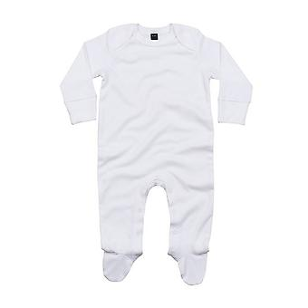 Babybugz Baby Unisex Organic Cotton Envelope Neck Sleepsuit