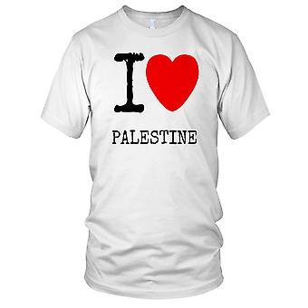 Ik hou van Palestina - Antiwar T damesshirt