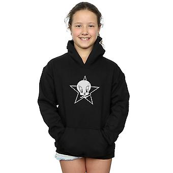 Looney Tunes Girls Tweety Pie Mono Star Hoodie