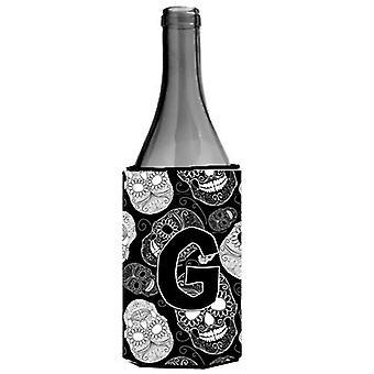 الحرف G يوم نعالها عازل المشروبات زجاجة النبيذ الأسود الجماجم الميت