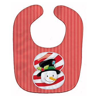 Carolines Treasures  BB8694BIB Christmas Month 8 Snowman Baby Bib