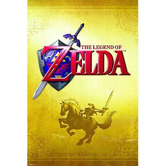 Zelda - Gold Plakat Poster drucken