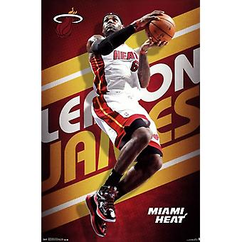 Miami Heat - L James 13 Poster Poster Print