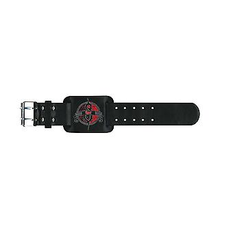 Slipknot Wristband band logo Crest Official New Black Leather