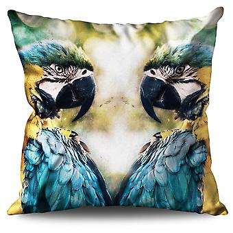 Color Feathers Linen Cushion Color Feathers | Wellcoda