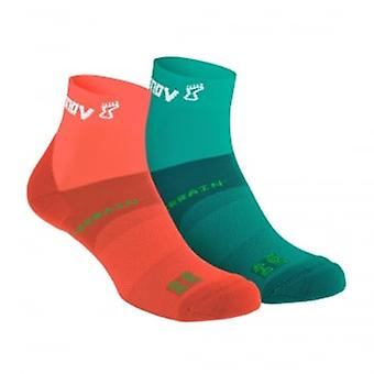 Tout Terrain Sock Mid Coral/Teal Twin Pack