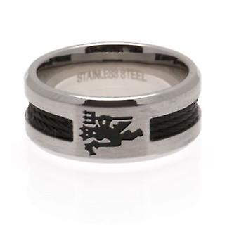 Manchester United Black Inlay Ring Large
