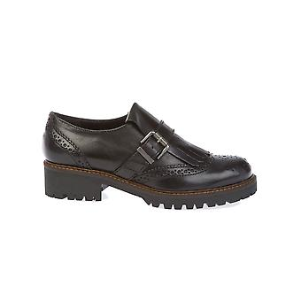 Donnapiu' women's 9993NERO black leather monk shoes