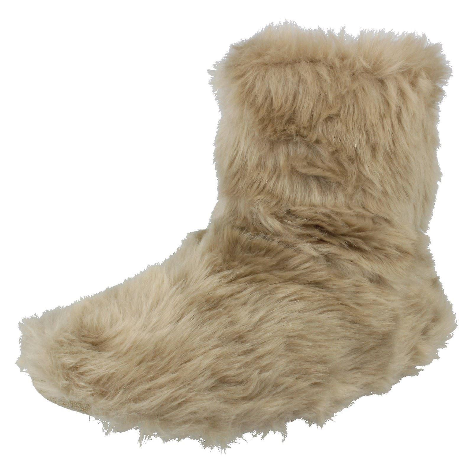 Ladies Eaze Boot pantofole X2081 - visone tessile - UK dimensione 7/8 - EU Taglia 40/41 - US dimensioni 8/9