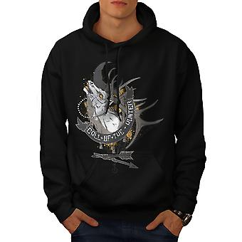 Appel du chasseur Fashion Men BlackHoodie | Wellcoda