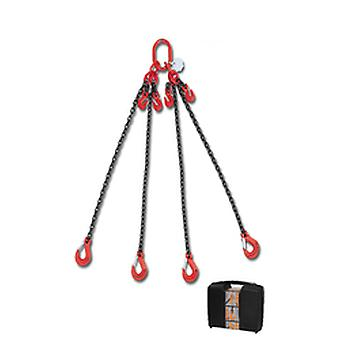 8098/4 C6A Beta Chain Sling 4 Legs And Grab Hook In Plastic Case 6mm 4 Mt
