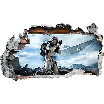 GNG Starwars Storm Trooper Smashed Wall Decal Poster 3D Art Stickers Vinyl Room