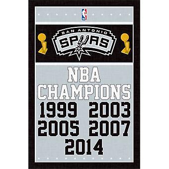 San Antonio Spurs - Champions 14 Poster Print
